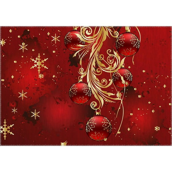 Covor Vitaus Christmas Period Red Decorations, 50 x 80 cm