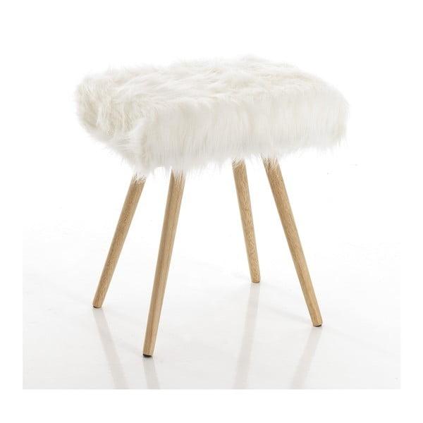 Biela stolička s nohami z dubového dreva Tomasucci Cloud, 40 × 30 × 48 cm