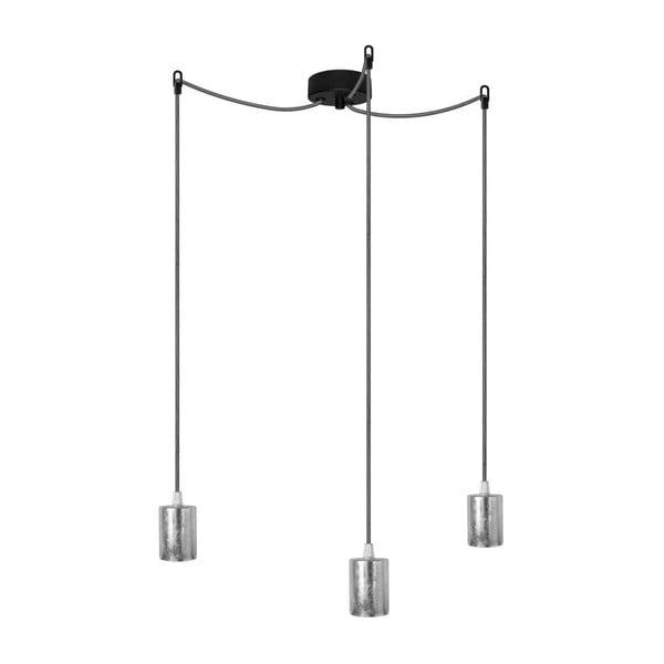 Tři závěsné kabely Cero, stříbrná/černobílá/černá