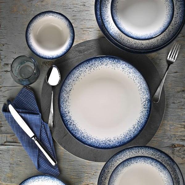 24-częściowy zestaw talerzy porcelanowych Kutahya Hurgo