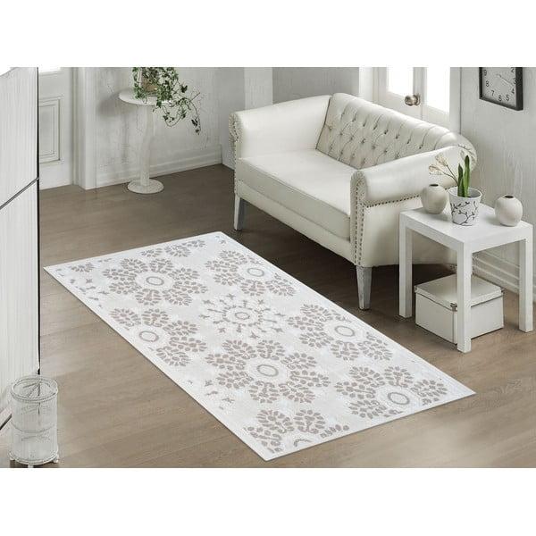 Beżowy wytrzymały dywan Vitaus Penelope, 80x200 cm