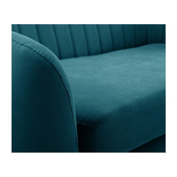 Canapea cu șezlong pe partea stângă Scandi by Stella Cadente Maison Comete, verde