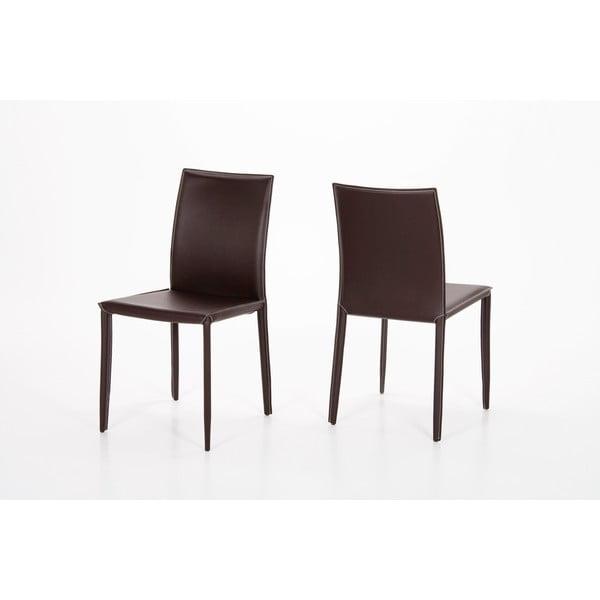 Jídelní židle Andrew, hnědá