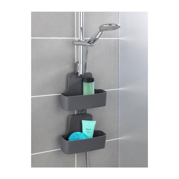 Černá závěsná polička do sprchy Wenko Barcelona