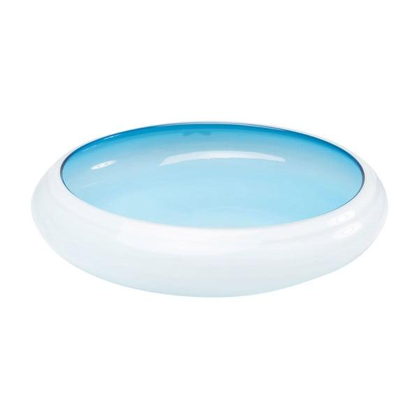 Skleněná modrá dekorativní mísa Kare Design Sunday Light, průměr 39,5cm