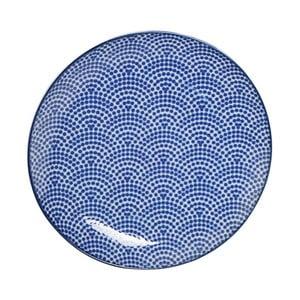 Modrý porcelánový talíř Tokyo Design Studio Dot