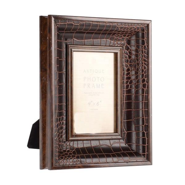 Fotorámeček Brown Croco, 10x15 cm