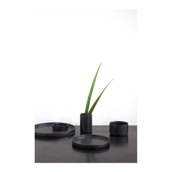 Keramická černá miska ComingB Coupelle Droite Granite Noir, ⌀ 9,5 cm