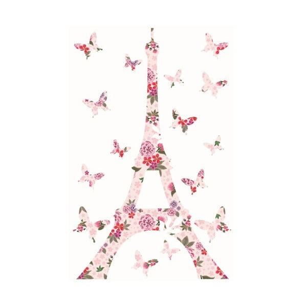 Samolepka na zeď Liberty Eiffel Tower Decal, 20x30 cm