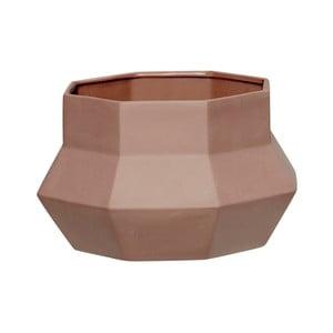 Cană din ceramică Hübsch Potty, maro