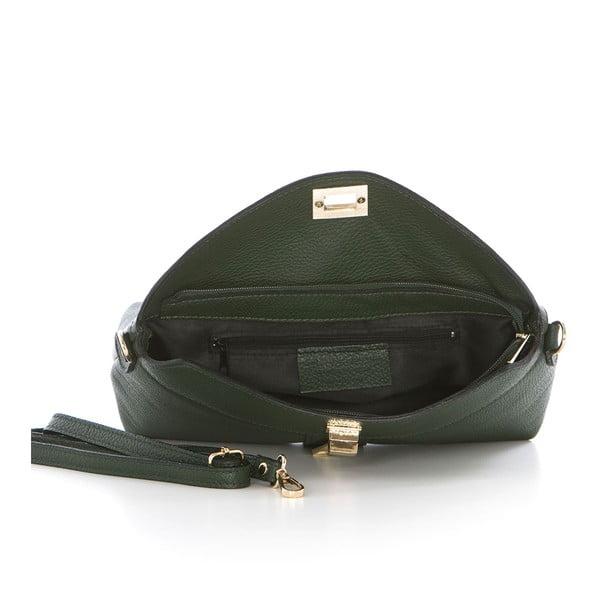 Zelená kožená kabelka Federica Bass Dione