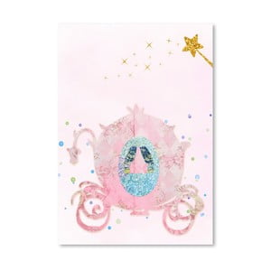 Poster Americanflat Chariot in Pink, 30 x 42 cm