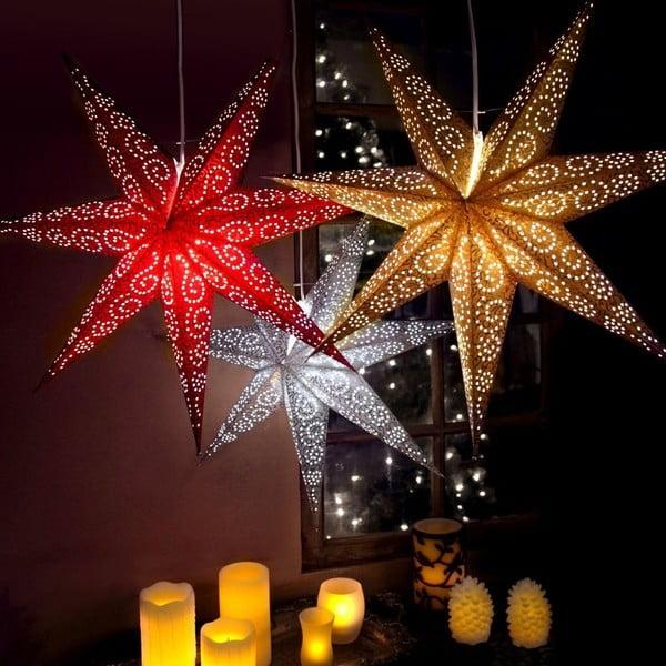 Závěsná svítící hvězda Gnistra, 85 cm