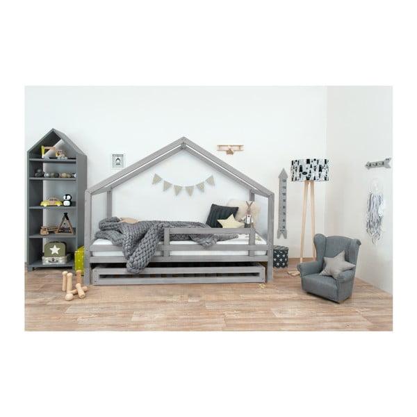 Šedá dětská postel z lakovaného smrkového dřeva Benlemi Sidy, 90 x 200 cm