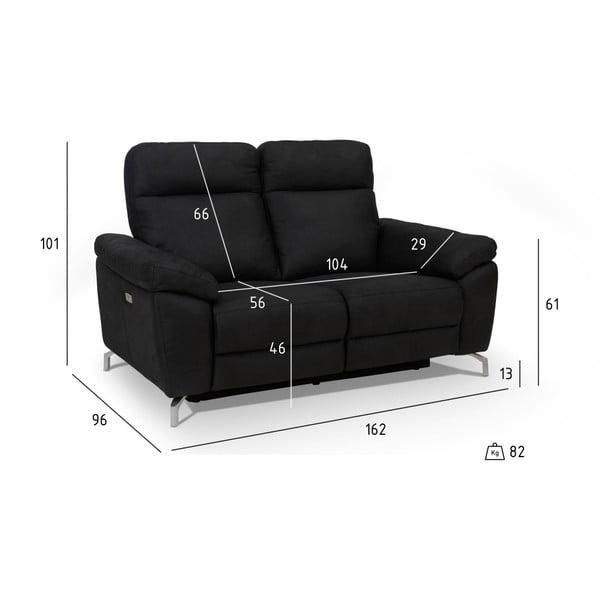 Canapea cu 2 locuri Furnhouse Selesta, negru