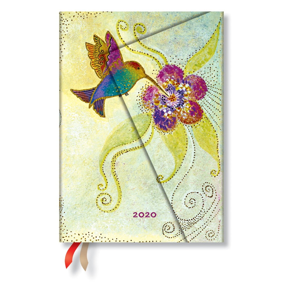 Vícebarevný diář na rok 2020 v tvrdé vazbě Paperblanks Hummingbird, 368stran