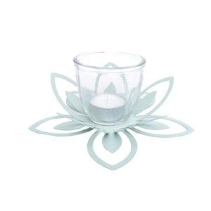 Suport metalic pentru lumânare Ewax Blossom, ⌀ 26 cm, verde