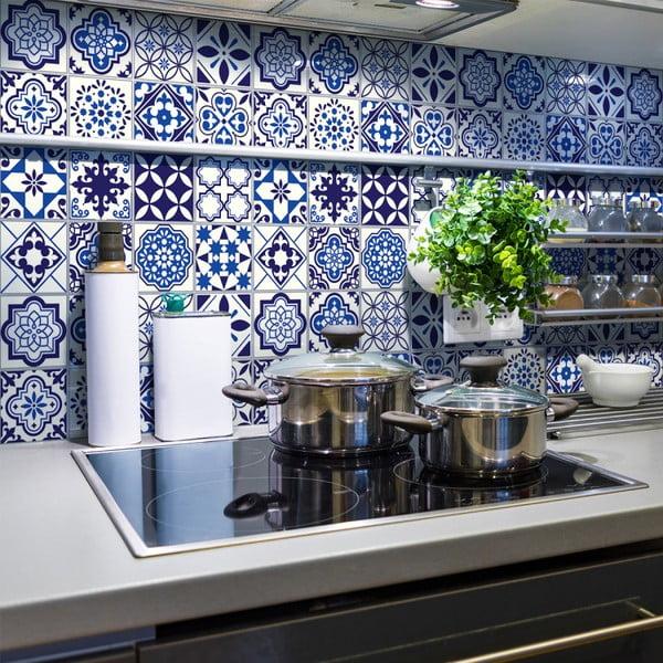 Zestaw 24 naklejek ściennych Ambiance Decals Tiles Eusebio, 10x10 cm