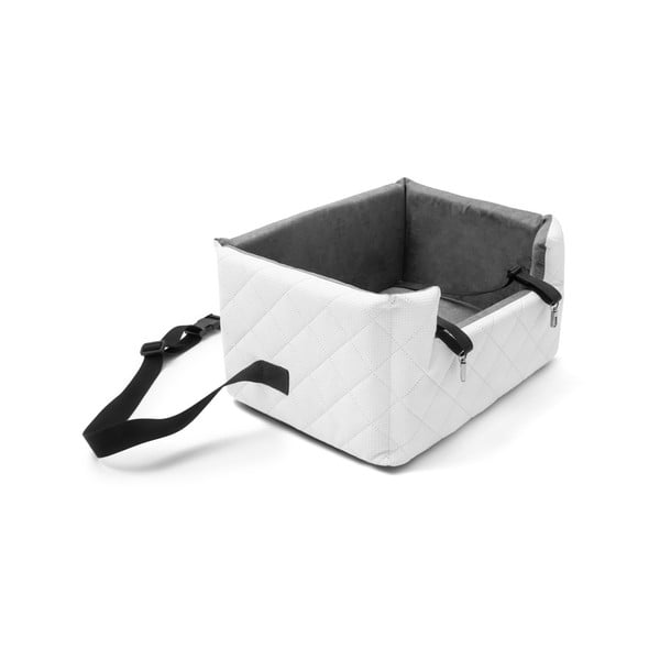 Bílá přepravní taška pro psa do auta Marendog Travel, 40 x 47 x 25 cm
