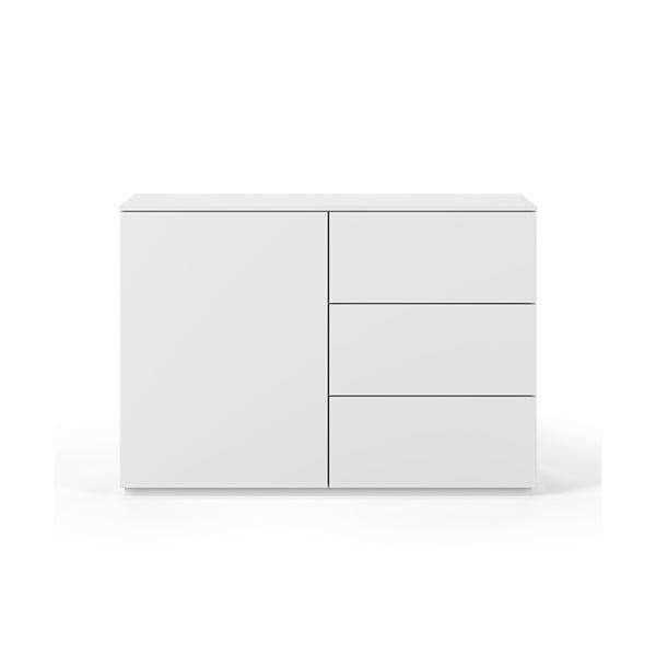 Comodă cu blat alb, cu 3 sertare și 3 rafturi TemaHome Join, alb