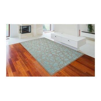Covor foarte rezistent Floorita Fiore, 135 x 190 cm, turcoaz de la Floorita
