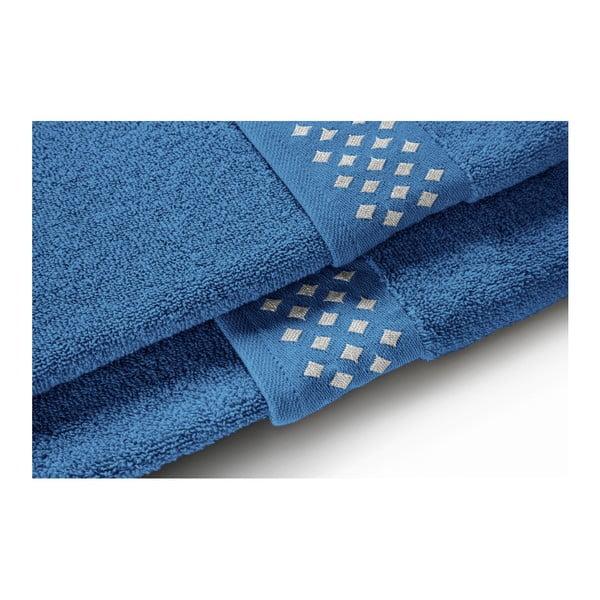 Modrá bavlněná osuška Maison Carezza Lazio, 70 x 140 cm