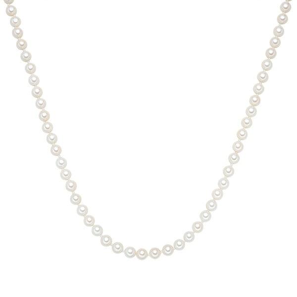 Perlový náhrdelník Muschel, bílé perly, ⌀0,6xdélka120cm