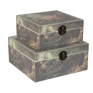 Sada 2 úložných krabic Clayre & Eef Vintage