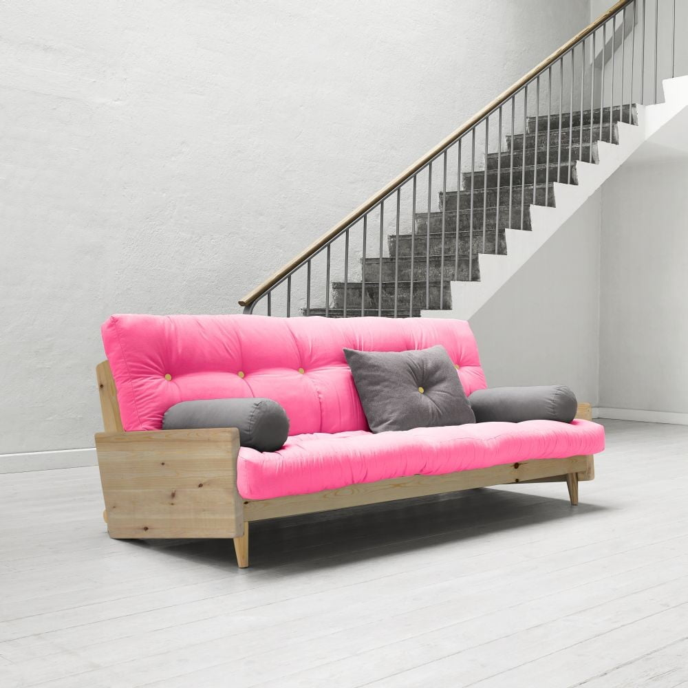 Rozkládací pohovka Karup Indie Clear Lacquered/Magenta/Amarillo