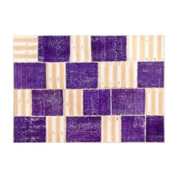 Vlněný koberec Allmode Purple, 180x120 cm