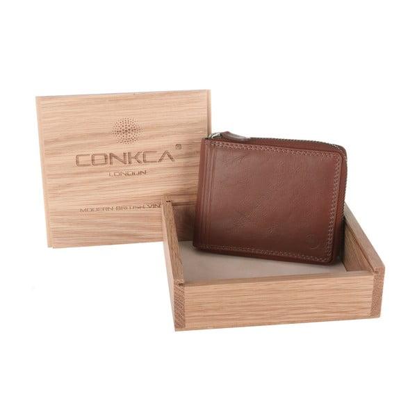 Kožená peněženka Chief Cognac