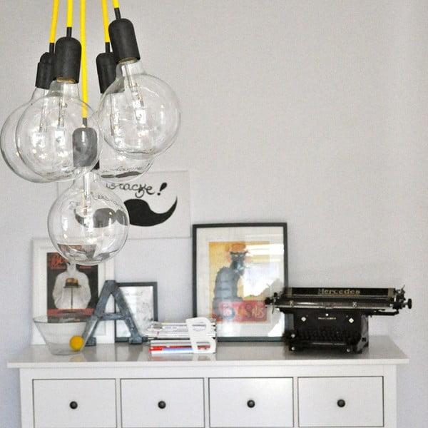 Barevný  kabel Loft se žárovkou, med
