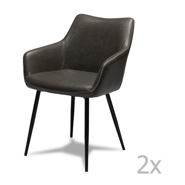 Set 2 scaune Furnhouse Maria, gri