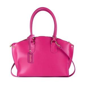 Fuchsiová kožená kabelka Maison Bag Mary