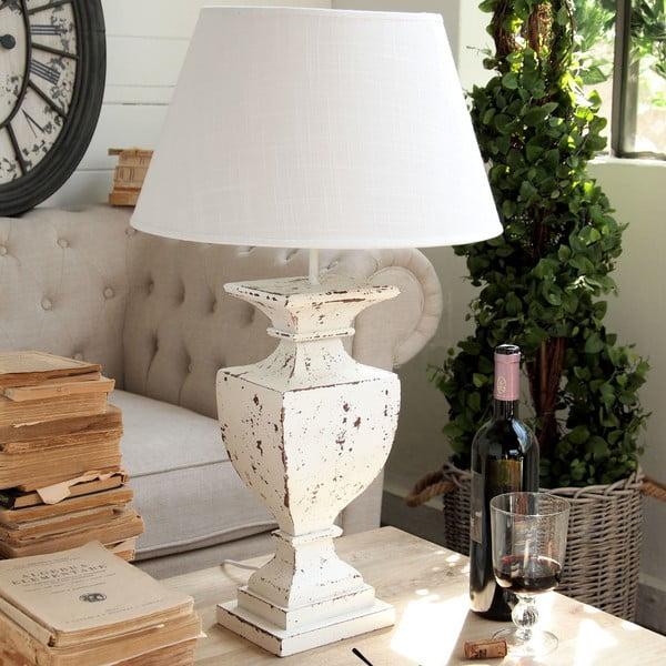 Stolní lampa Shabby White, 68 cm