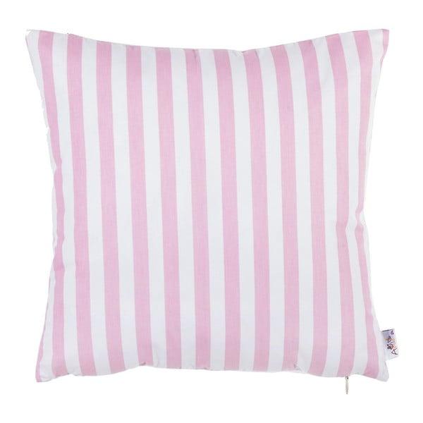 Růžový bavlněný povlak na polštář Apolena Tureno, 35 x 35 cm