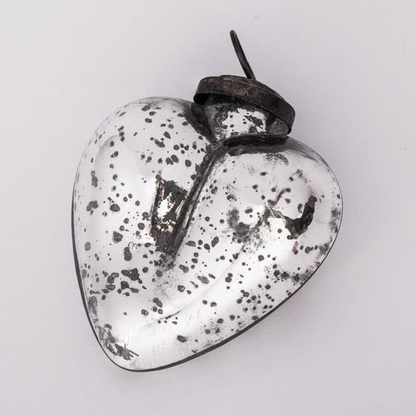 Vánoční ozdoba Srdce, 10 cm