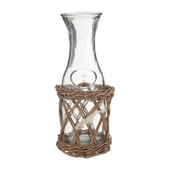 Carafă sticlă cu suport Premier Housewares Country Cottage, 12 x 28 cm de la Premier Housewares