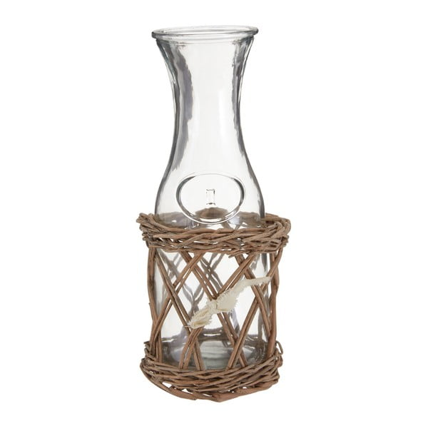 Carafă sticlă cu suport Premier Housewares Country Cottage, 12 x 28 cm