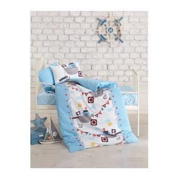 Lenjerie de pat din bumbac pentru copii Pirates, 100 x 150 cm de la Cotton Box