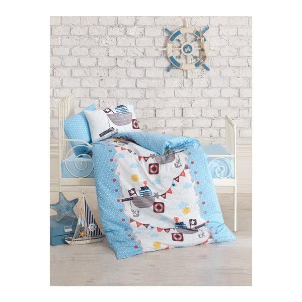 Pirates pamut gyermek ágyneműhuzat-garnitúra lepedővel, 100 x 150 cm