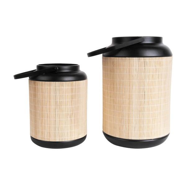 Bambusová lucerna PT LIVING, 18 x 27,5 cm