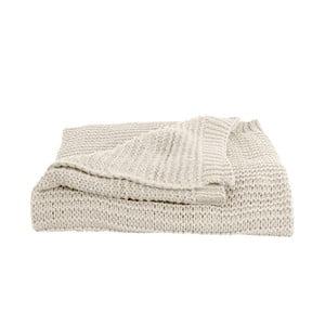 Bílý přehoz PT LIVING Snuggle, 130 x 170 cm