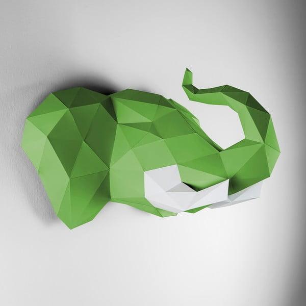 Papírová trofej Slon, zeleno-bílý