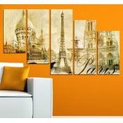 5dílný obraz Paříž