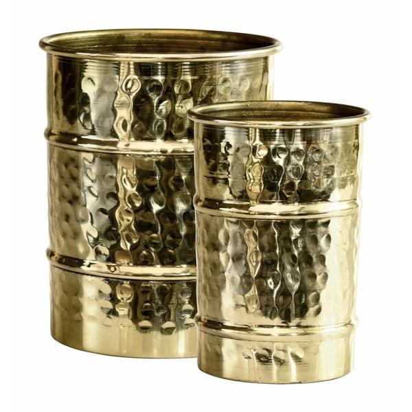 Sada 2 zlatých váz Green Gate Metal
