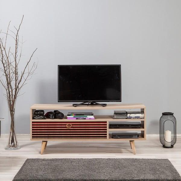 Dřevěný TV stolek Agapis Red