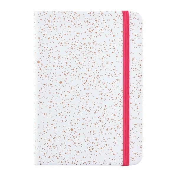 Biely zápisník s bodkami vo formáte A6 Busy B, 96 strán