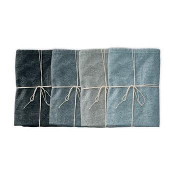 Set 4 șervețele textile Linen Couture Blue Gradient, lățime 40 cm imagine