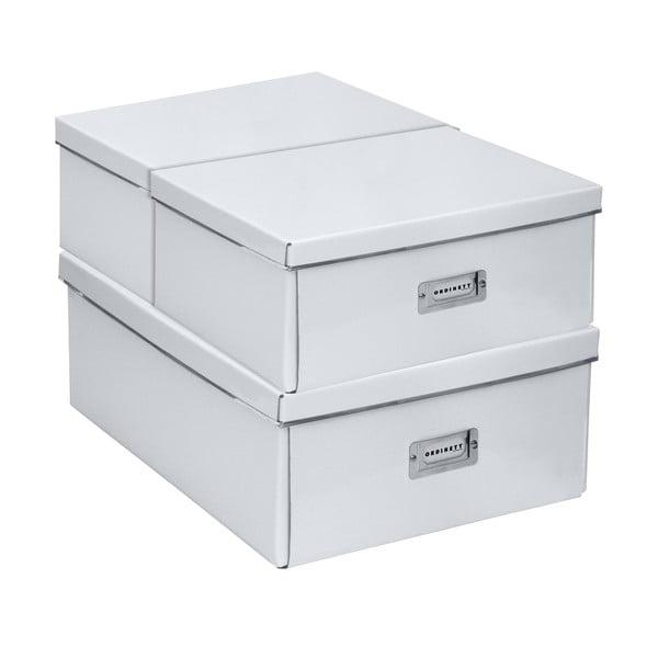 Sada 3 úložných boxů Home White